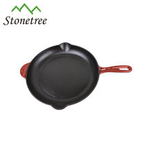 European home kitchen cooking skillet enamel cast iron cookware